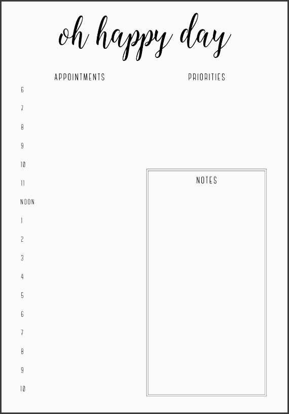 oh happy day planner from free printable irma daily planners by eliza ellis available in