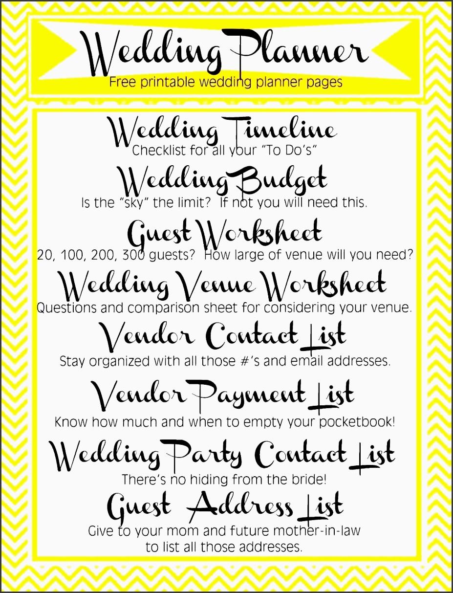 wedding plan checklist excel
