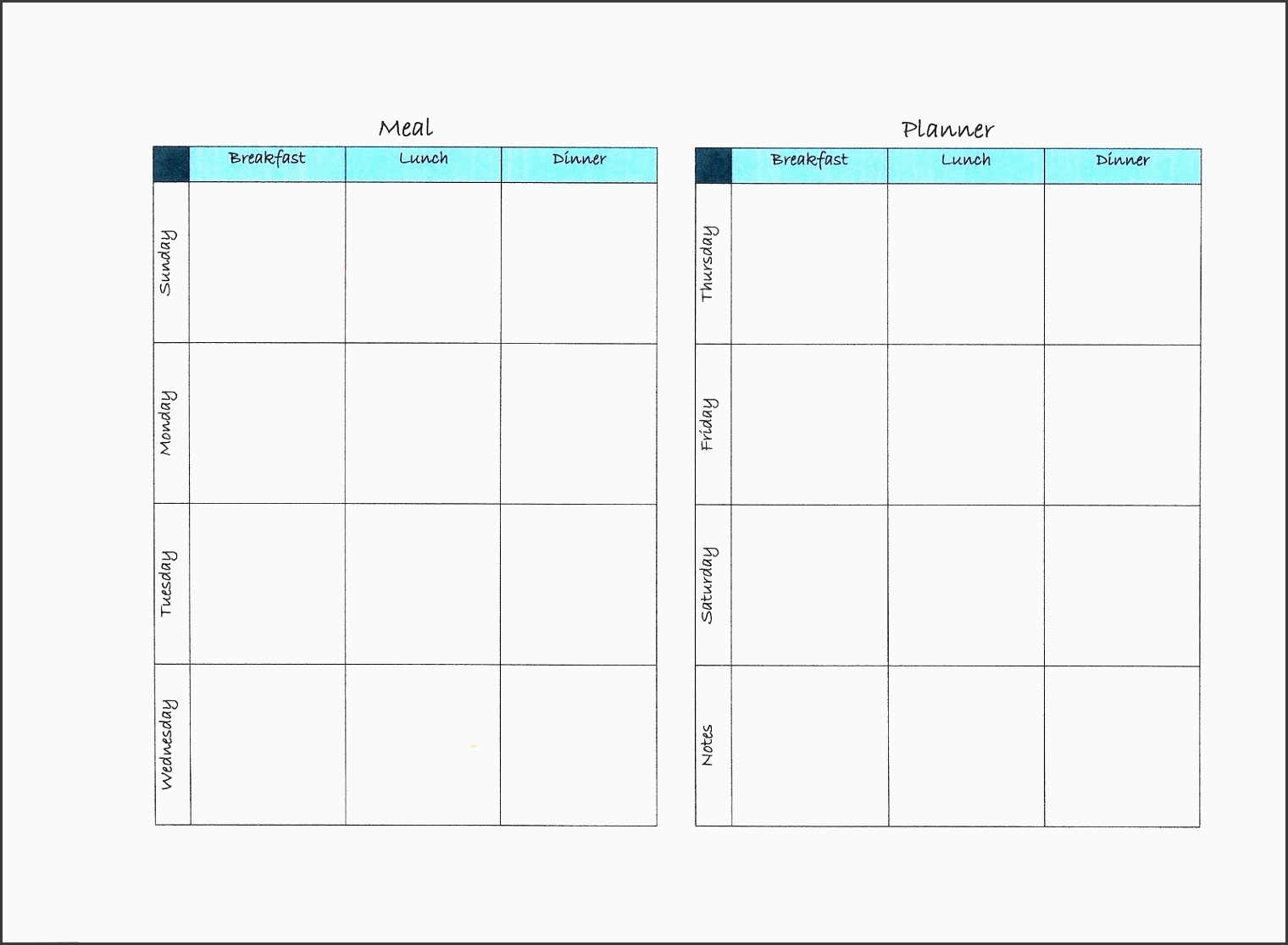 timetable outline template - 11 free exercise planner outline sampletemplatess