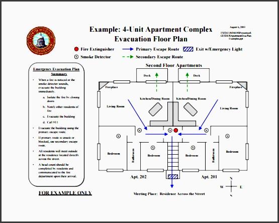 apartment evacuation plan free pdf template