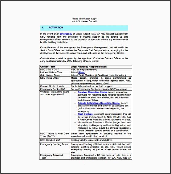 bristol airport emergency plan free pdf template