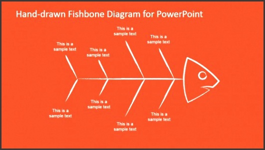 hand drawn fishbone diagrams template for powerpoint