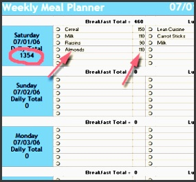 meal plan spreadsheet starling fitness fitness t and health weblog weekly meal