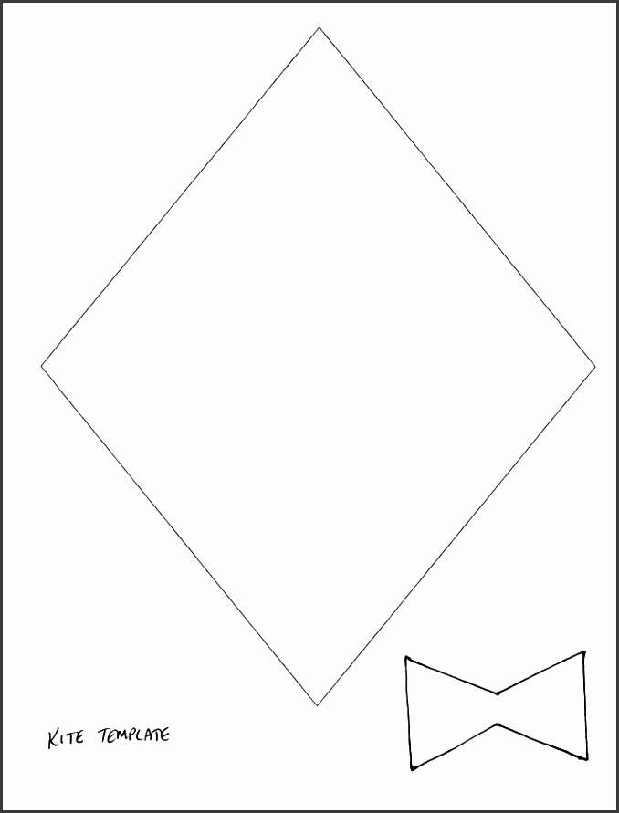spring crafts print your kite template