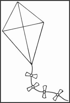 free kite coloring page