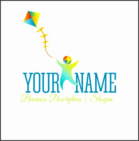 free logo maker boy with kite logo design template