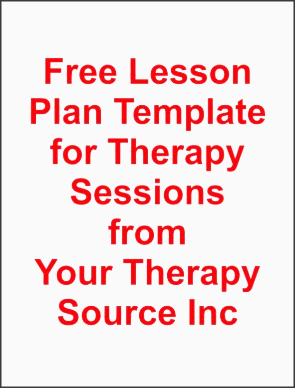 free lesson plan template for ot pt slp repinned by sos inc resources