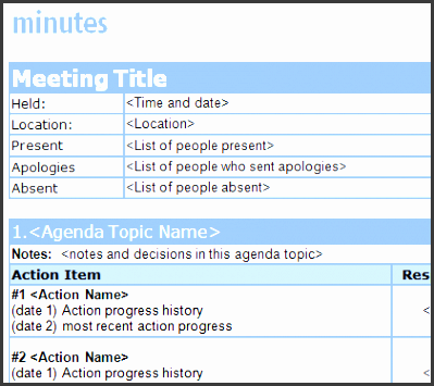 simple meeting minutes sample new calendar template site