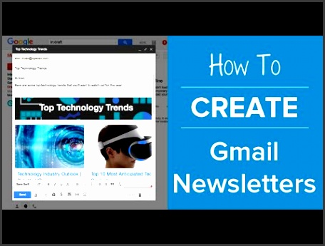 how to create an email newsletter in gmail no no coding elink youtube