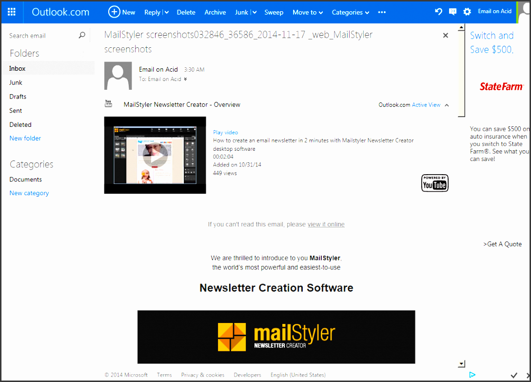 newsletter template patibility test