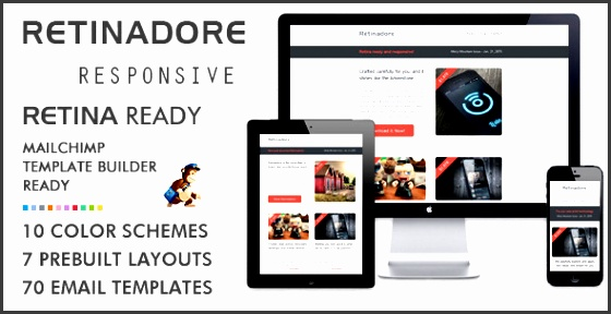 retinadore responsive email newsletter template retinadore has features such as high resolution yes