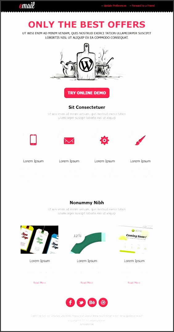 40 best email newsletter templates psd free