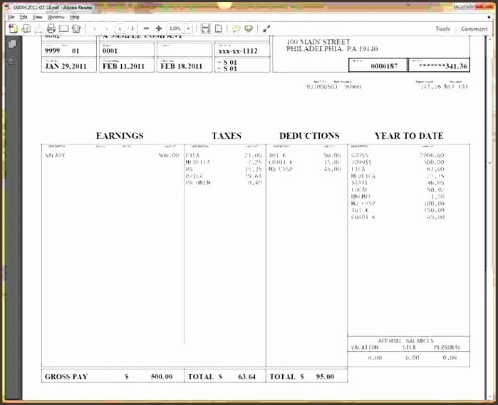6 free pay stub template in word sampletemplatess for Paycheck stub template in microsoft word