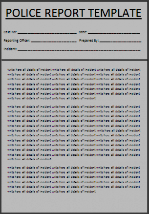police report template for free tidyform this police report template is produced in microsoft word format so you can easily make changes in the