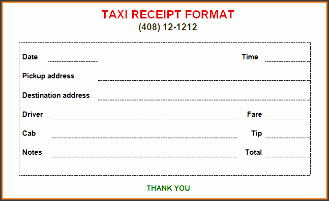indian taxi bill format in word 3rd free taxi receipt template