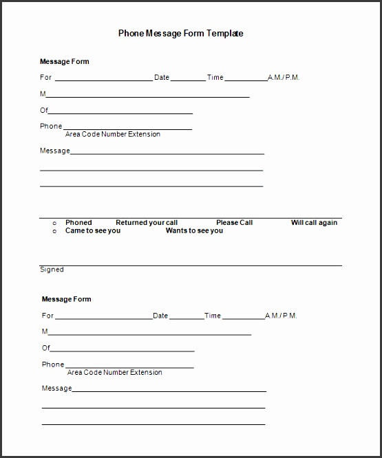 phone message template 21 free word excel pdf documents
