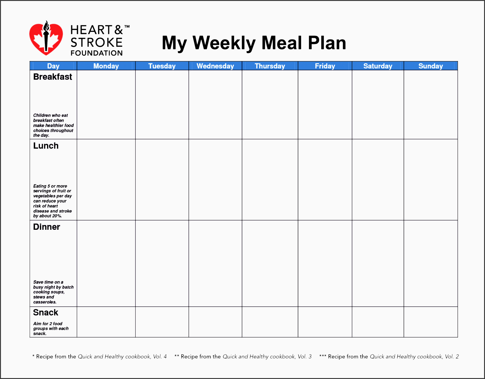 diabetes meal planner template