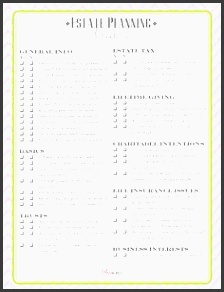 estate planning checklist