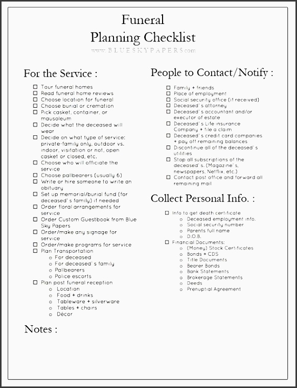 how to plan a funeral free funeral planning checklist