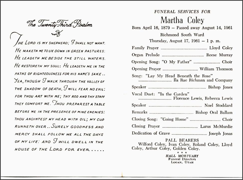 catholic funeral program
