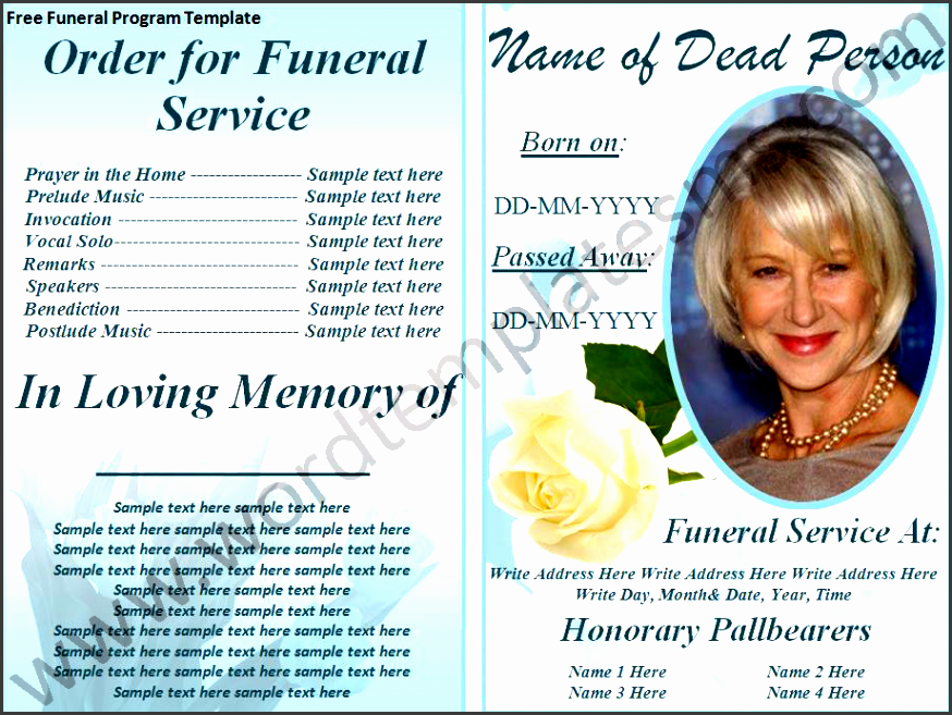 free print funeral brochures free funeral program template page ms word templates
