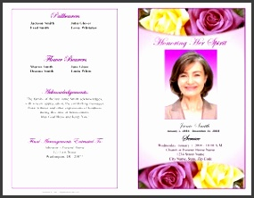 funeral program example outer cover