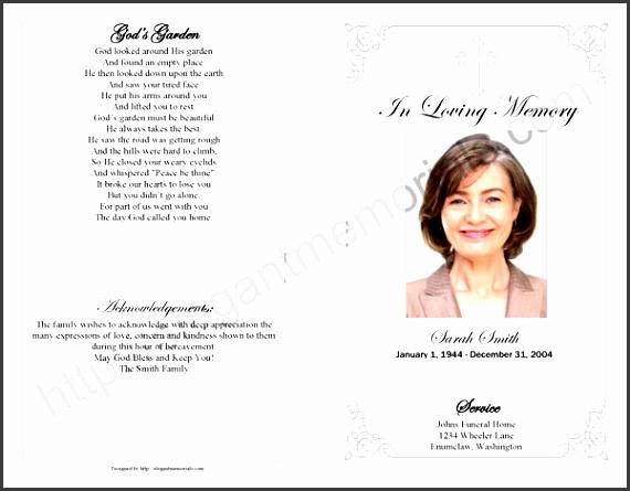 sample memorial service program page 1