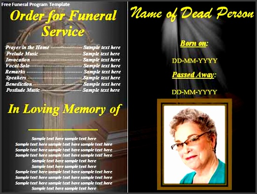 free funeral brochure templates online sample funeral program template 30 free documents in templates
