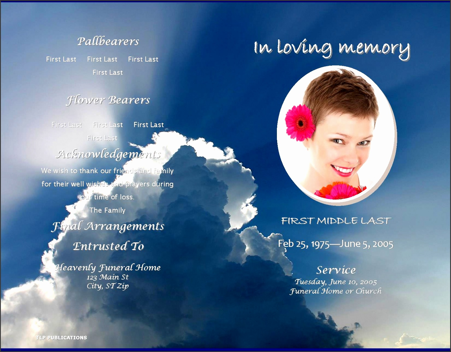 bunch ideas of lifecycleprints celebration of life funeral program templates on memorial card template word
