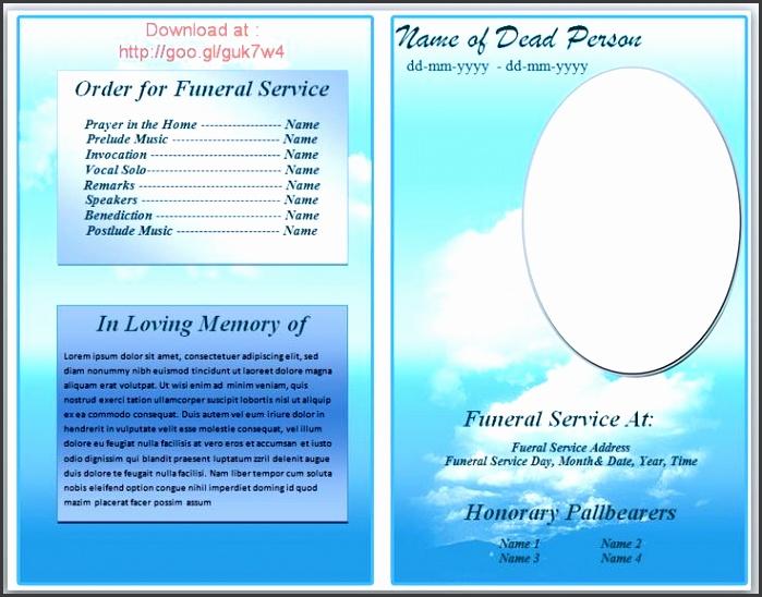 73 best printable funeral program templates images on pinterest