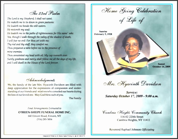 free funeral program templates microsoft word