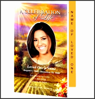 funeral program templates valley 2 page graduate ceremony template