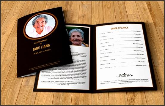 memorial funeral event template