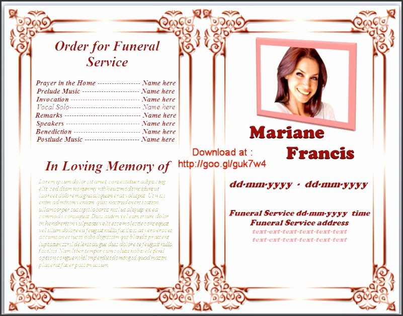 funeral memorial programs and condolences sayings