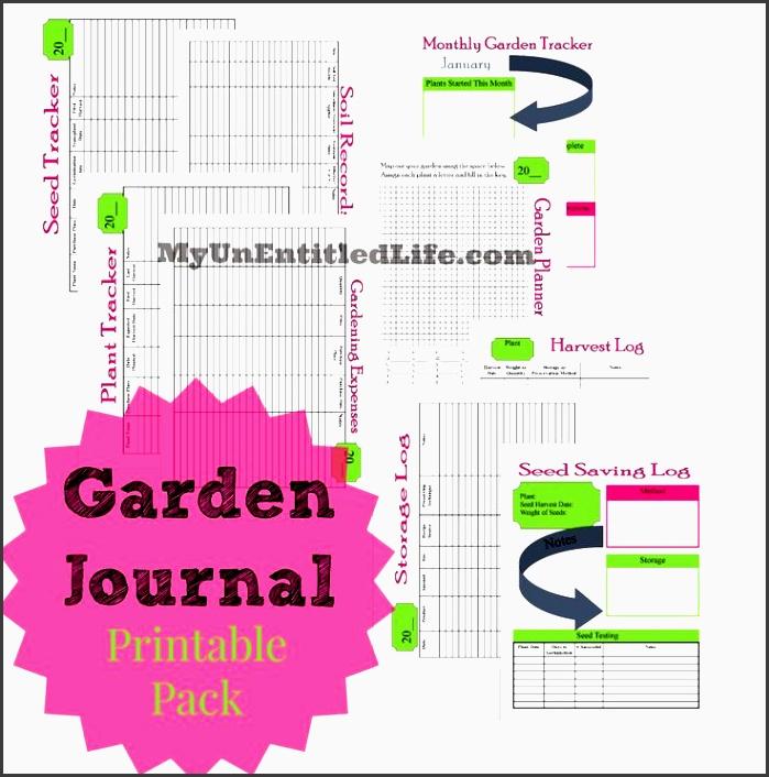6 Garden Planner Editable for Free - SampleTemplatess ...