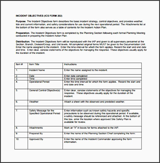 sample incident action plan template has a basic format that can be applied to any kind of incident planning it has blocks to include objectives