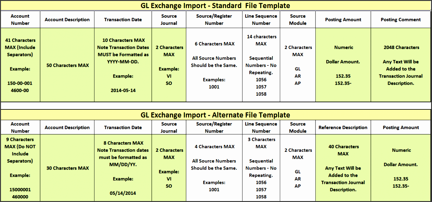 to use the tool from the general ledgerutilities menu choose gl exchange à although individual requirements may differ for this example we are importing