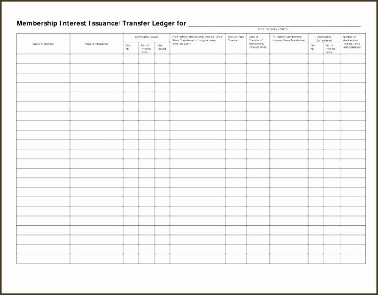 printable business ledger general ledger format in excel free