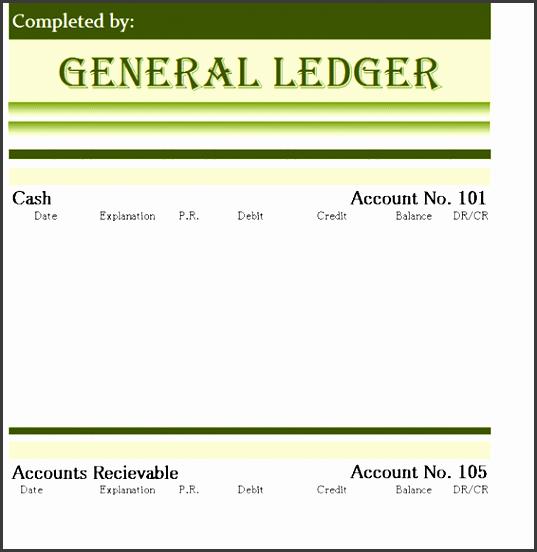 general ledger templates in excel format xlsx