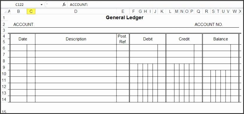 general ledger template