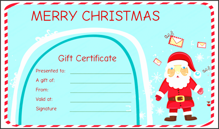 santa messages christmas t certificate template