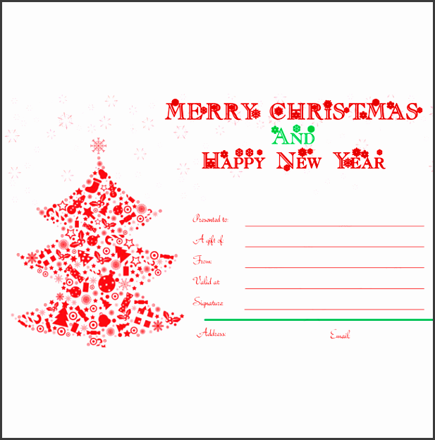 merry christmas and happy new year card template word layouts in merry christmas t certificate templates