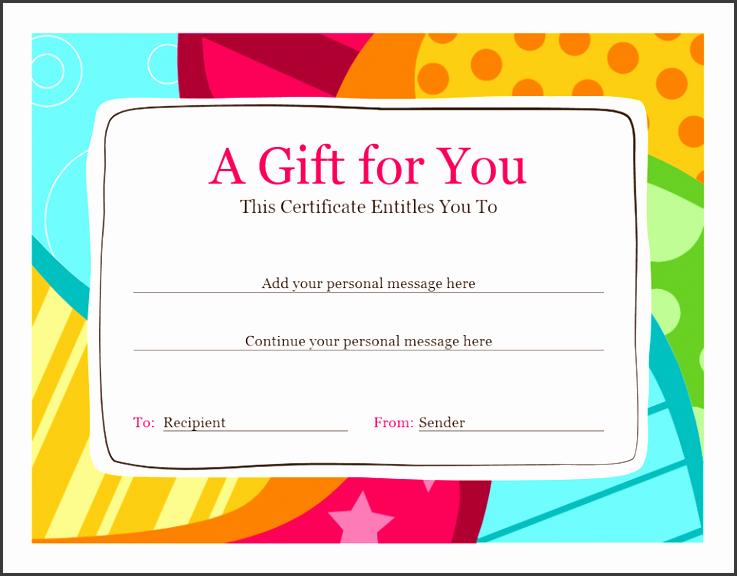 birthday t certificate bright design