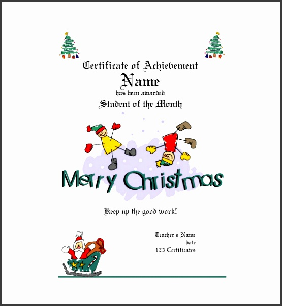 pdf format christmas t certificate template free