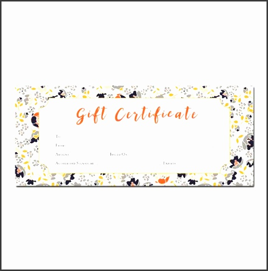 floral print blank t certificate premade t certificate printable t certificate template