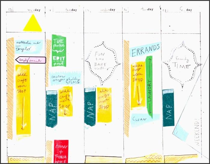 5 day work week diy planner template