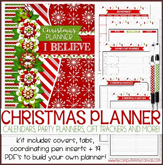 christmas planner kit holiday planning kit t planner holiday organizer christmas binder printable instant