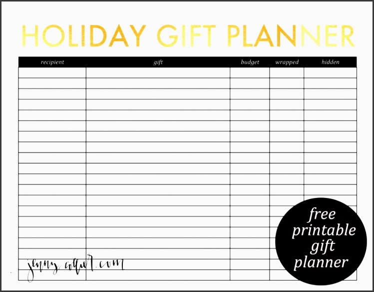 free holiday t planner