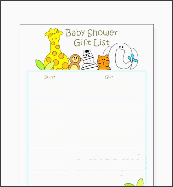 baby shower t wish list template