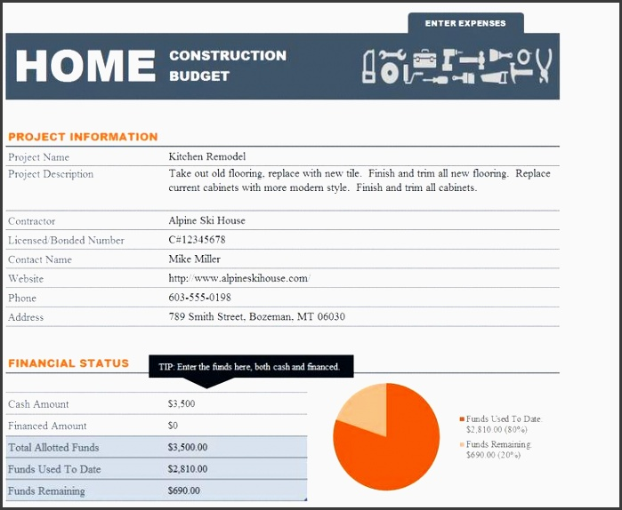 the home construction bud spreadsheet helps homeowners plan for necessary expenses planned improvements and unexpected emergency repairs